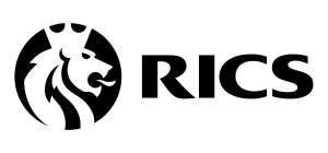 RICS Logo with lions head and black text
